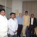 Richard Stone with Niranjan and goverment officials